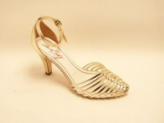gold pumps sandal shoe, wedding shoe