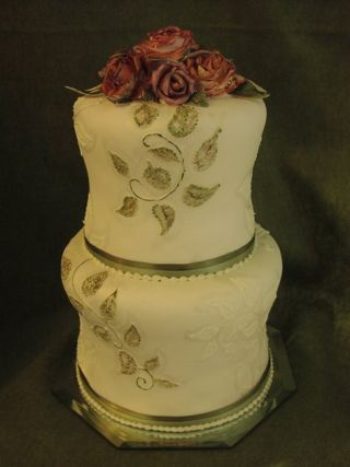 Porceline wedding cake portland