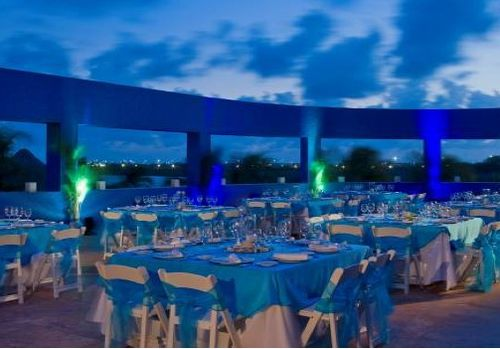 outdoor terrace mexico destination wedding westin cancun
