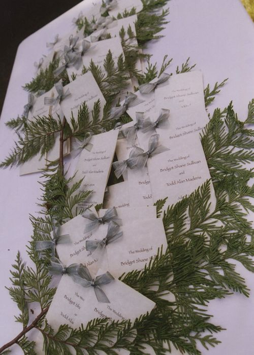 Oregon-theme-tree-wedding-program
