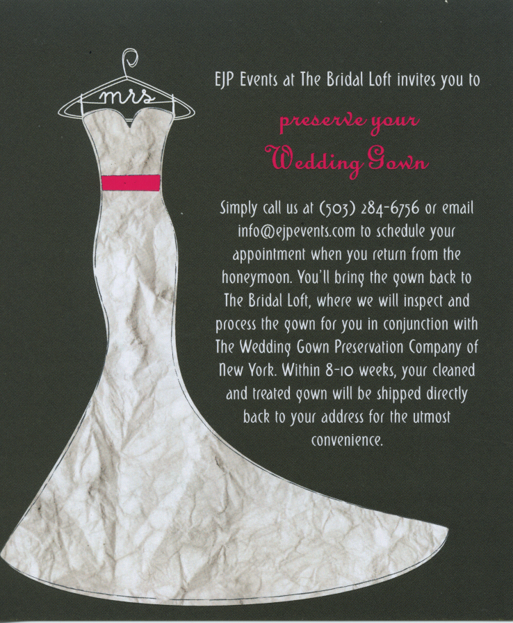 Portland Wedding Coordinator: { Wedding Gown Cleaning & Preservation ...