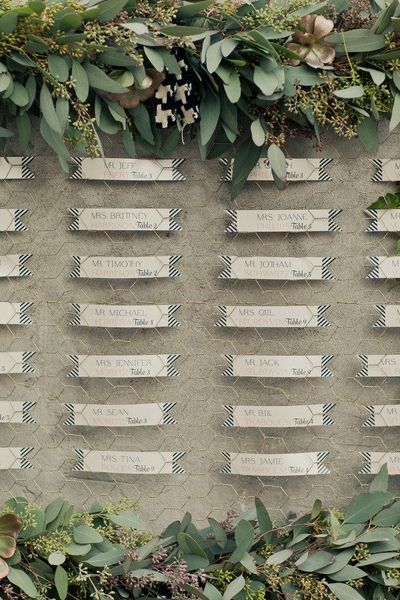 Wire & Floral Escort Cards