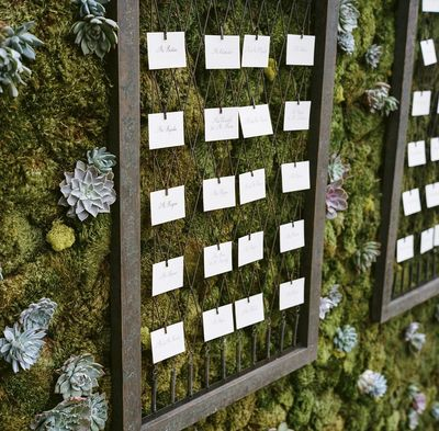 Moss & Wire Escort Cards