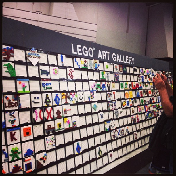 Lego interactive art wall