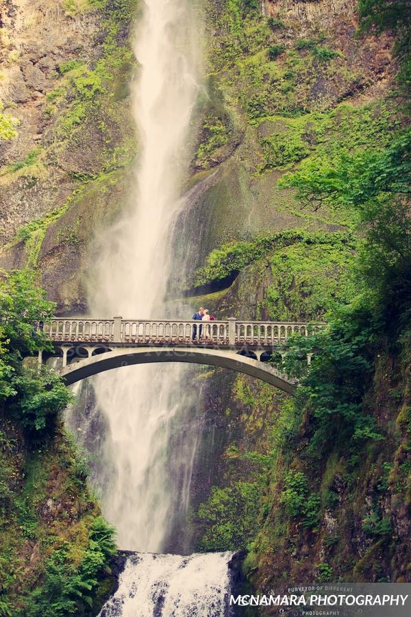 Columbia Gorge Wedding Multnomah Falls