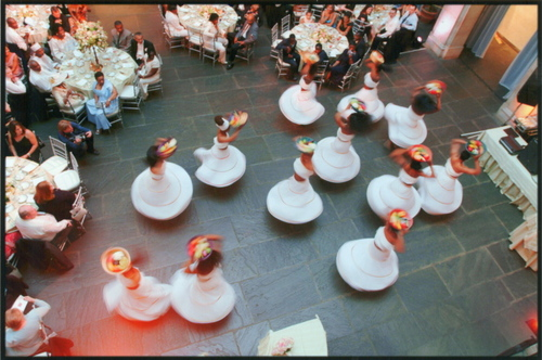 Dancers, from above