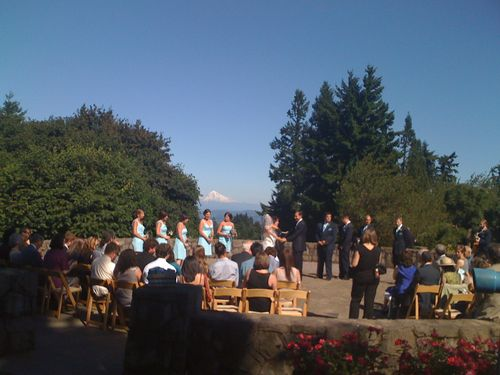 Wedding at the summit of Council Crest Park, Portland Oregon