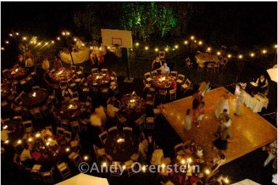 Evening backyard wedding