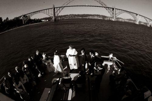 Oregon Coast Wedding: a wedding on a boat in Newport